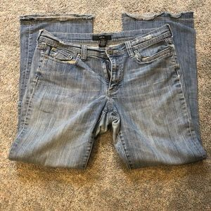 Noir Distressed & Studded Jeans Size 12S